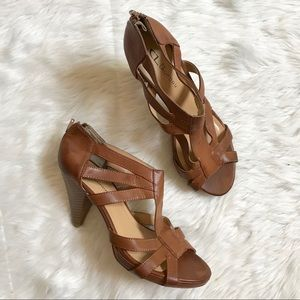Chinese Laundry Whitnee Brown Strappy Heels